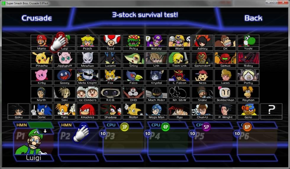 Personagens Super Smash Bros. Crusade