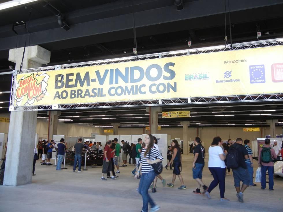 A Brasil Comic Con contou com um espaço bastante amplo para a realização do evento